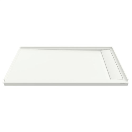 Townsend 60x36-inch Solid Surface Shower Base - Right Drain  American Standard - Soft White