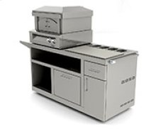 Pizza Oven Plus Pizza Prep Cart