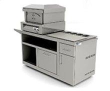 Pizza Oven Plus Pizza Prep Cart