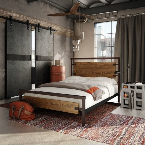 Factory Regular Footboard Bed (larch) - King