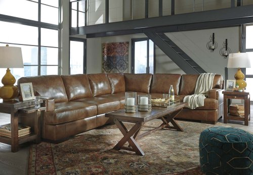 Vincenzo - Nutmeg 3 Piece Sectional