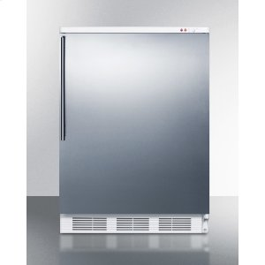 SummitCommercial Freestanding Medical All-freezer Capable of -25 C Operation, With Stainless Steel Door and Thin Handle