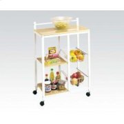 White Kitchen Cart Product Image