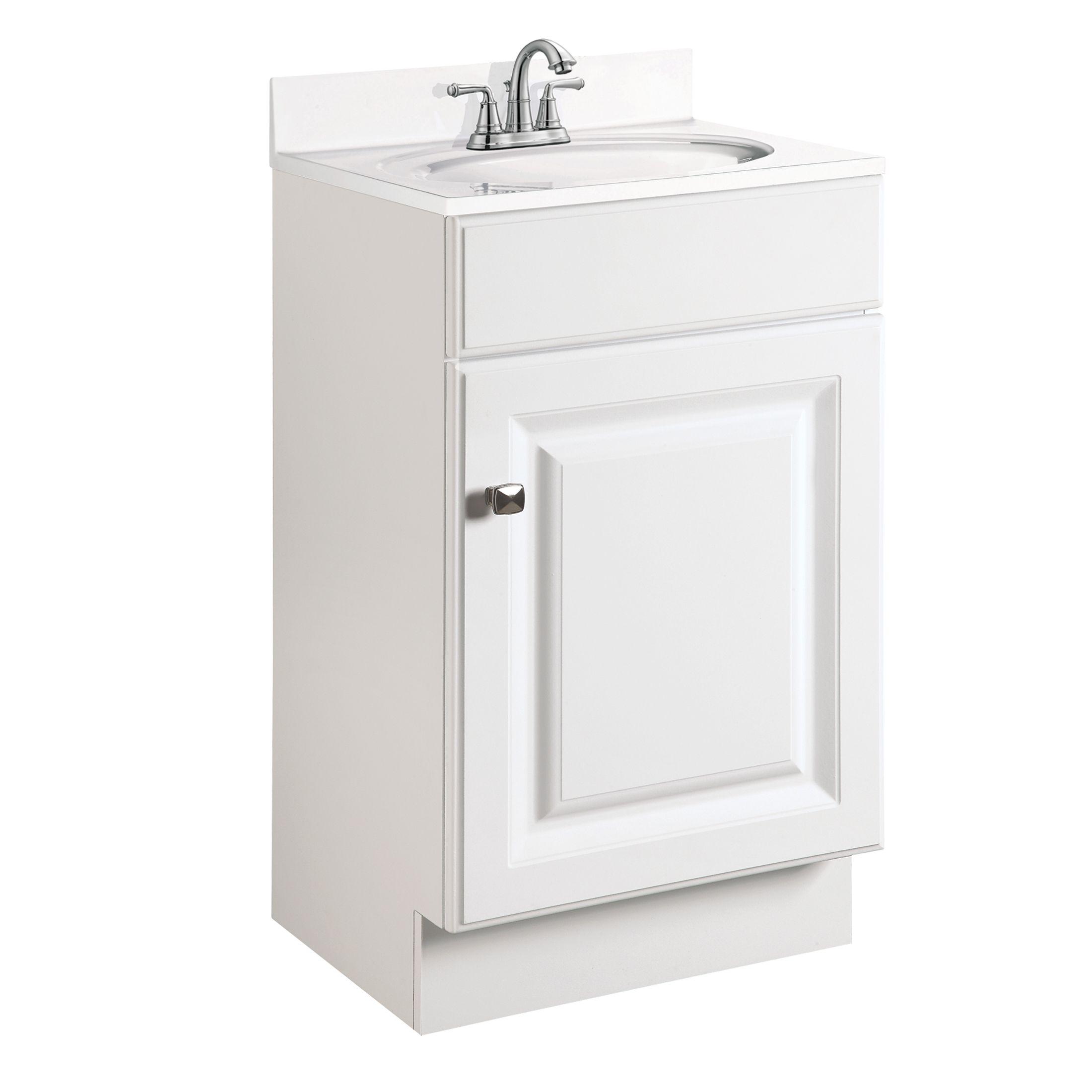 """Wyndham 1-Door Vanity 18"""", White #531723"""