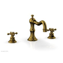 HENRI Deck Tub Set - Cross Handle 161-40 - French Brass