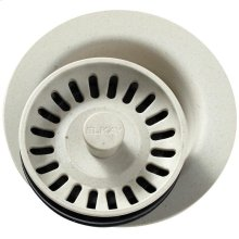 """Elkay Polymer 3-1/2"""" Disposer Flange with Removable Basket Strainer and Rubber Stopper Bisque"""