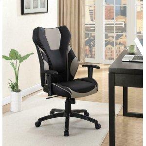 CoasterContemporary Black/grey High-back Office Chair
