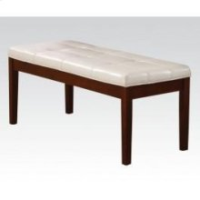 Walnut Bench W/white Pu