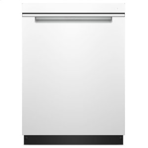 Stainless Steel Tub Pocket Handle Dishwasher with TotalCoverage Spray Arm - WHITE