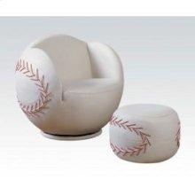 2pc Pk Baseball Chair , Ottoma