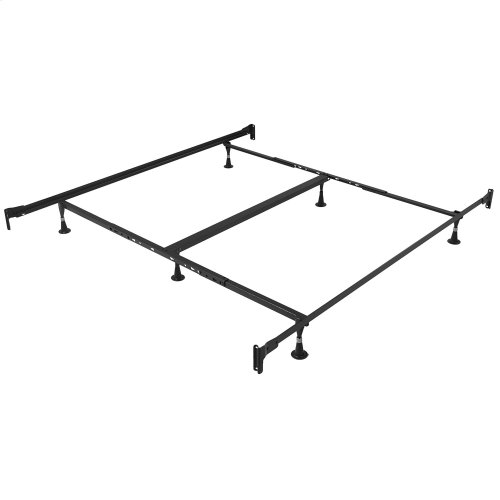 Engineered Adjustable PL856G Bed Frame with Fixed Head & Food Panel Brackets and (6) Glide Legs, Twin XL / King