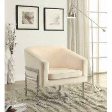 Contemporary Cream Accent Chair