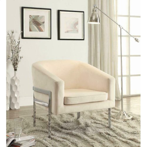 Contemporary Cream Accent Chair