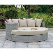 Calio Round Patio Sofa & Ottoman
