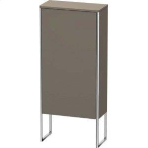 Semi-tall Cabinet Floorstanding, Flannel Grey Satin Matt Lacquer