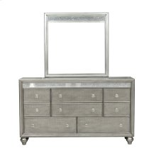 Silver Luxe Mirror Trim 8 Drawer Dresser