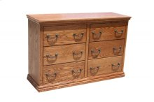 O-T311 Traditional Oak 6-Drawer Youth Bedroom Dresser