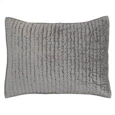 Bari Velvet Gray Standard Sham Set Product Image