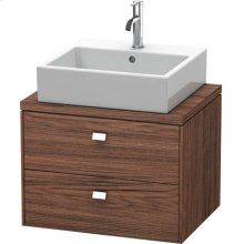 Brioso Vanity Unit For Console Compact, Walnut Dark Decor