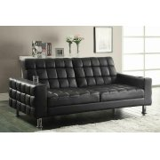 Brown Faux Leather Sofa Bed Product Image