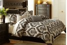 9 pc Queen Comforter Set Sand Product Image
