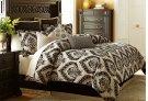 9 pc Queen Comforter Set Sand Product Image