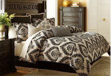 9 pc Queen Comforter Set Sand