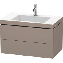 Furniture Washbasin C-bonded With Vanity Wall-mounted, Basalt Matt (decor)