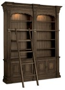 Home Office Rhapsody Double Bookcase with Ladder and Rail Product Image