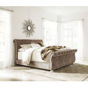 Ashley Furniture Cassimore - Pearl Silver 3 Piece Bed Set (King)