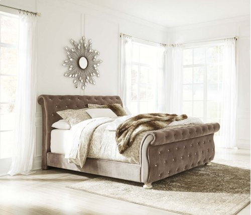 Cassimore - Pearl Silver 3 Piece Bed Set (Cal King)