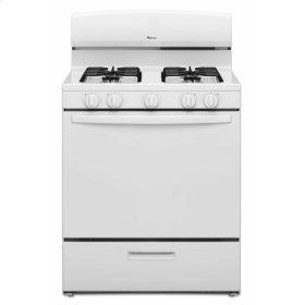 30-inch Gas Range with EasyAccess Broiler Door - White