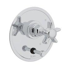 Polished Chrome San Giovanni Pressure Balance Trim With Diverter with Five Spoke Cross Handle
