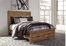 Cinrey - Medium Brown 4 Piece Bed Set (King)