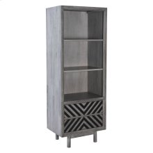 Raven Narrow Tall Shelf Old Gray