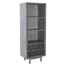 Raven Narrow Tall Shelf Old Gray