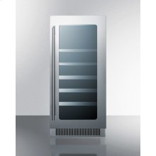 """15"""" Wide Built-in Wine and Craft Beer Center With Seamless Stainless Steel Trimmed Low-e Glass Door; Replaces Cl15wbv"""