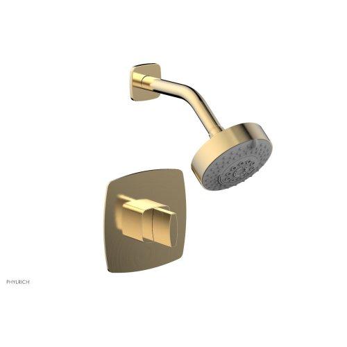 RADI Pressure Balance Shower Set - Blade Handle 181-21 - Satin Brass