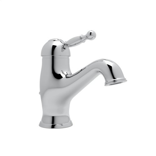 Polished Chrome Arcana Single Hole, Single Lever Lavatory Faucet with Arcana Series Only Ornate Metal Lever
