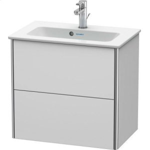 Vanity Unit Wall-mounted Compact, White Satin Matt Lacquer