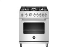 30 inch All Gas Range, 5 Burners Stainless