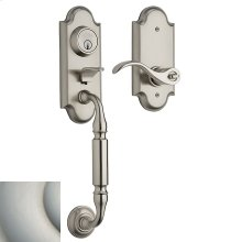 Satin Nickel Ashton Two-Point Lock Handleset