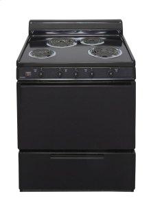 30 in. Freestanding Electric Range in Black