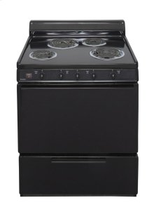 30 in. Freestanding Electric Range in Black