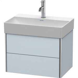 Vanity Unit Wall-mounted Compact, Light Blue Satin Matt Lacquer
