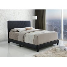 Jessica Black Upholstered Queen Bed