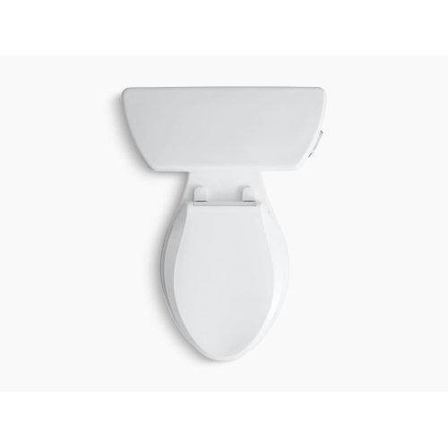 White Two-piece Elongated 1.28 Gpf Toilet With Class Five Flush Technology and Right-hand Trip Lever, Seat Not Included