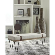 Beige and Black Bench
