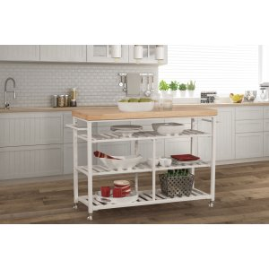 Hillsdale FurnitureKennon Kitchen Cart - Natural Wood Top