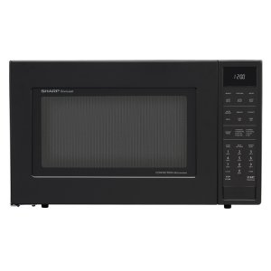 SHARP1.5 cu. ft. 900W Sharp Matte Black Carousel Convection Microwave Oven